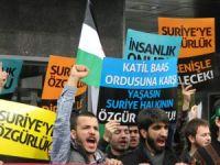 Marmara Üniversitesi'nde Suriye Eylemi