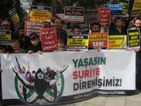Çorumda Suriye Halkına Destek Eylemi