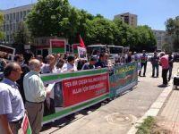 Rus Elçiliği Önünde Medet Ünlü Protestosu