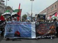 """Fatih'te Kudüs İçin """"Küresel Yürüyüş"""" Eylemi (FOTO GALERİ)"""