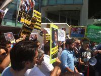 Ankara'da Mısır Cuntası ve ABD Protesto Edildi