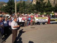 Amasyada Darbecilere Protesto, Şehitlere Dua