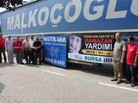 Bursadan Suriyeye 3 Tırlık Yardım