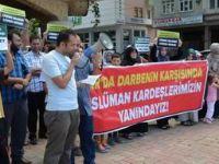 Eynesil'de Mısır Katliamı Protesto Edildi