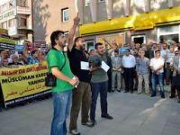 Çorumda Mısırdaki Katliam Protesto Edildi