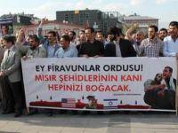 Erzurumda Mısırdaki Katliam Protesto Edildi