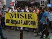 Antalyada Mısırdaki Katliam Protesto Edildi