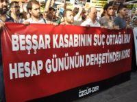 Diyarbakırda Suriye Diktası ve İşbirlikçilerine Lanet