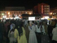 Erzurumda Mısır İçin Oturma Eylemi