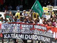 Antalyada Mısır ve Suriye Protestosu
