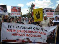 Erzurumda Mısır ve Suriye Katliamları Protesto Edildi