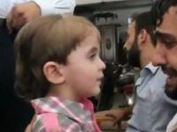 Çocuğuna Kavuşan Suriyeli Babanın Sevinci