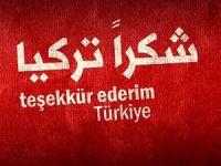 """Suriye'de """"Teşekkürler Türkiye"""" Cuması"""