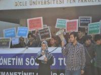 Dicle Üniversitesindeki Tacizler Protesto Edildi
