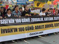 Fatih'te 100. Gününde Mısır Cuntası Lanetlendi