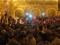 """Tunus'ta """"Terör ve Darbeye Hayır"""" Gösterileri"""
