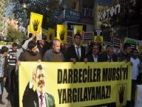 Diyarbakır'da Mursi'ye Destek Eylemi (FOTO)
