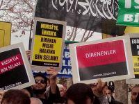 Ankara'da Suriye, Mısır ve Filistin İçin Eylem