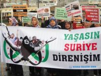 Sivas'ta Suriye, Mısır ve Filistin İçin Eylem