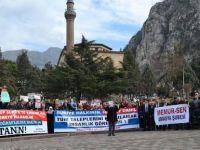 Suriye'deki Esed Vahşeti Amasya'da Telin Edildi