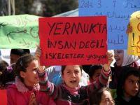 Çadır Kentte Kalan Suriyeli Çocuklardan Eylem