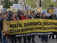 Ankara'da Cuntanın İdam Kararları Protesto Edildi