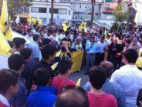 Denizli'de Mısır Protestosu