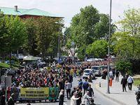 Şehzadebaşı'ndan Beyazıt'a Mısır İçin Yürüyüş Yapıldı