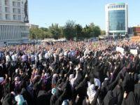 Şeyh Said Meydanı`nda PKK`yi Lanetlediler