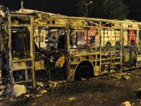 Başakşehir'de Otobüsü Ateşe Verdiler