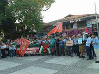 Bursa'da İsrail'in Gazze Saldırıları Protesto Edildi