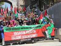 Fatih'te Binlerce Kişi İsrail'i Lanetledi