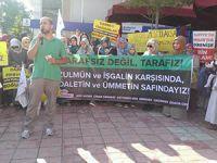Ereğli'de Siyonist Katliamlar Protesto Edildi