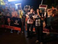ABD Elçiliği Önünde Siyonist İsrail Protesto Edildi