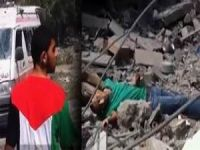 Ailesini Ararken Şehid Olan Gazzeli Kardeşimiz (Video)