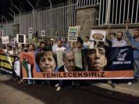 Ankara Suudi Elçiliği Önünde Gazze Protestosu