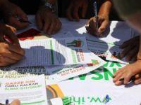 Isparta'da Gazze'ye Destek Eylemi