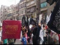 ABD Saldırıları Halep'te Protesto Edildi
