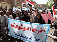 Yemen'de Husi Karşıtı Gösteriler Devam Ediyor