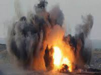 İdlib'te Çadır Kente Varil Bombalı Saldırı