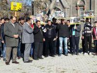 Kars'tan İşgalci İsrail'e Protesto