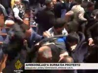 Bursa'da Ahmedinejad'ı Protesto Eden Suriye Devrimi Gönüllülerine Saldırı