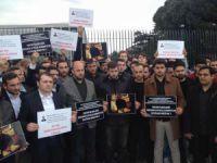 Doğan Holding Önünde Protesto