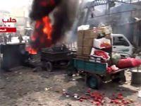 Halep'te Pazar Katliamı: 25 Ölü (VİDEO)