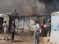 Lübnan'da Sığınmacı Kampında Yangın