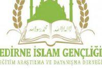 Edirne İslam Gençliği'nin Basın Açıklaması
