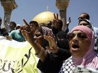 Hz. Muhammed'e Hakaret Mescid-i Aksa'da Protesto Edildi