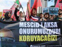 Aksa'ya Yönelik Saldırganlığa Gençlerden Protesto