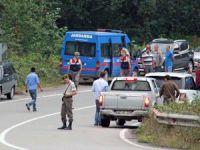 Giresun'da Jandarma Trafik Timlerine Saldırı