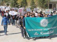 YYÜ'de Diyarbakır'daki Karikatür Afişi Protesto Edildi